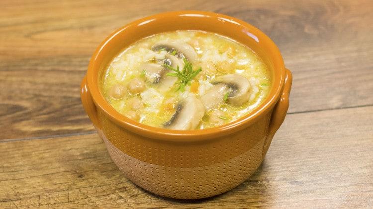 Zuppa di riso e ceci