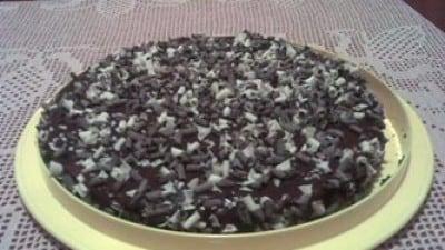 Torta fredda con crema al cioccolato