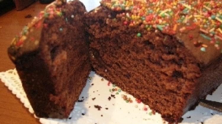 Plum cake al cioccolato fondente
