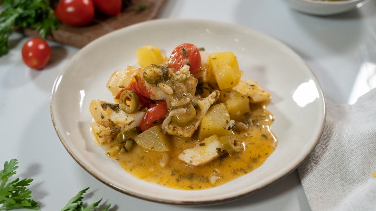 Baccalà in umido con patate