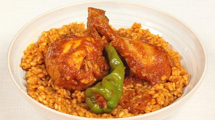 Riso con pollo alla tunisina