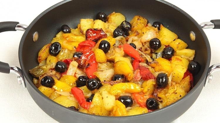 Teglia di patate e peperoni
