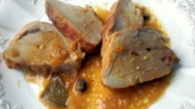 Maiale in salsa di senape e miele