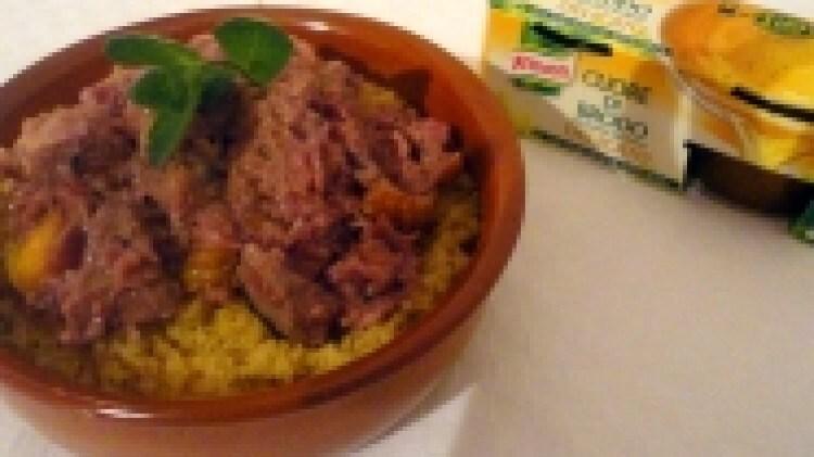 Couscous con faraona speziata