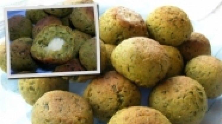 Polpettine di zucchina con cuore di emmenthal