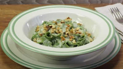 Tagliatelle verdi gorgonzola e noci