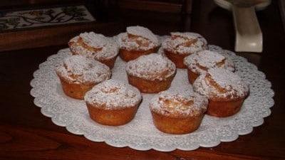 Muffin con ciliegie e mandorle