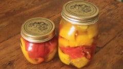 Peperoni in agrodolce da conservare