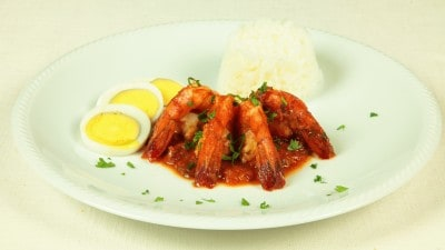 Gamberoni in salsa rossa delle Mauritius