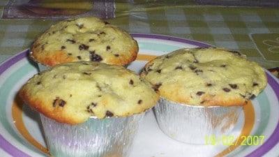Muffins con ricotta, cioccolato e cocco