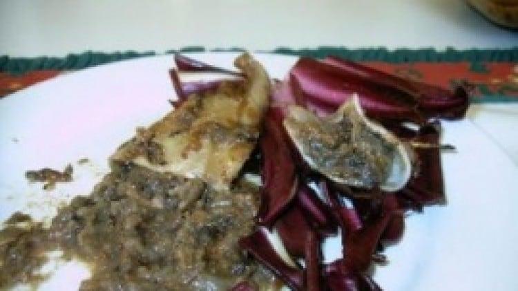 Calamari ripieni di radicchio di Treviso