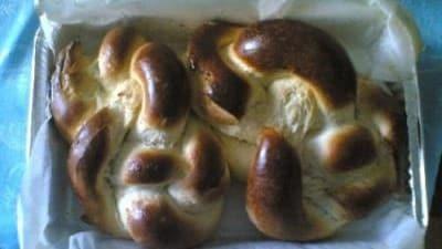Treccia di pan dolce