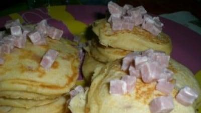 Pancakes salati ricotta e prosciutto