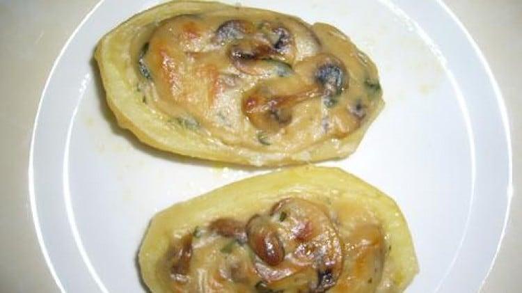 Patate con ripieno ai funghi