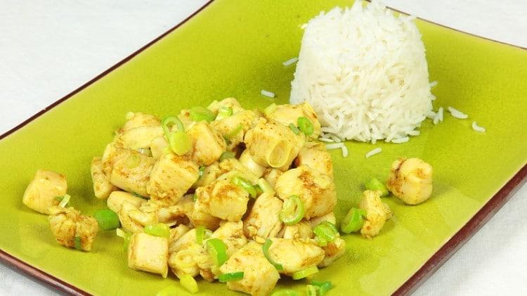 Pollo al curry cinese