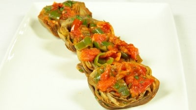 Alcauciles en salsa de tomates