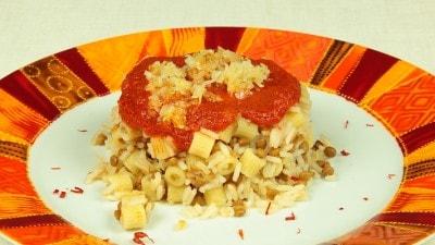 Lenticchie, riso e pasta