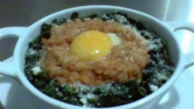Cocottina di riso con spinaci