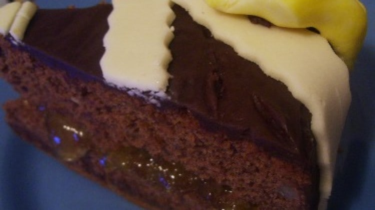 Torta all'earl grey e cioccolato
