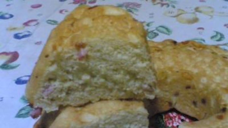 Brioche rustica con prosciutto e formaggio