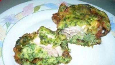 Cosci di pollo in pastella di spinaci