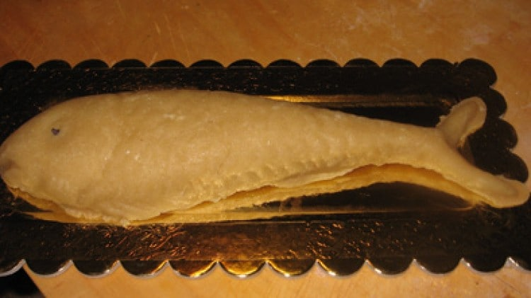 Pesce di pasta di mandorle di matric