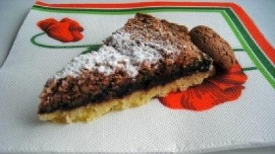 Crostata con cioccolato ed amaretti