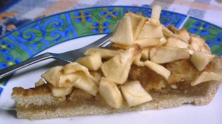Crostata di mele con savoiardi