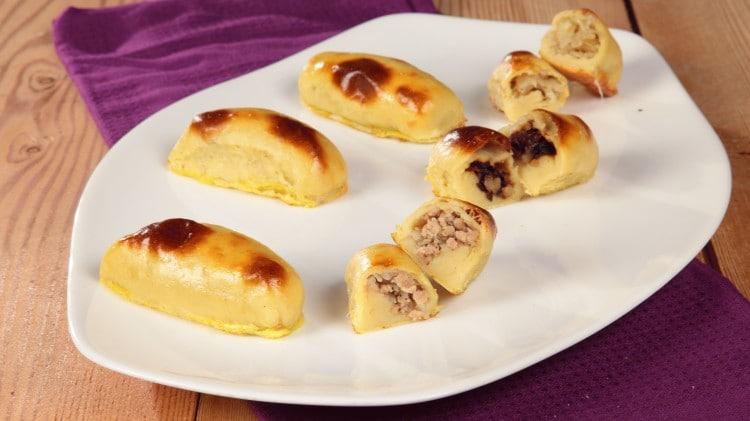 Bulbianiki polpette di patate ripiene cotte in forno