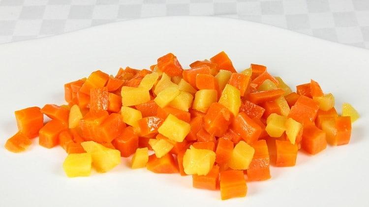 Carote stufate con mele