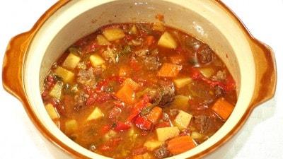 Gulasch zuppa tradizionale ungherese