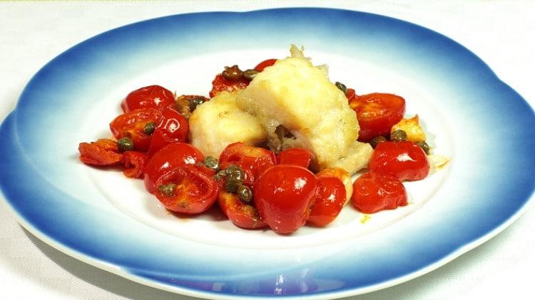 Baccalà pomodorini e capperi