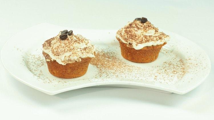 Muffins al caffè e panna