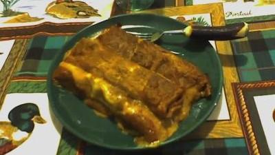 Cannelloni di cotechino alla salsa di lenticchie
