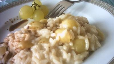 Risotto puzzone all'uva bianca e grappa Chardonnay