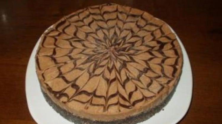 Torta fredda al cioccolato e noci