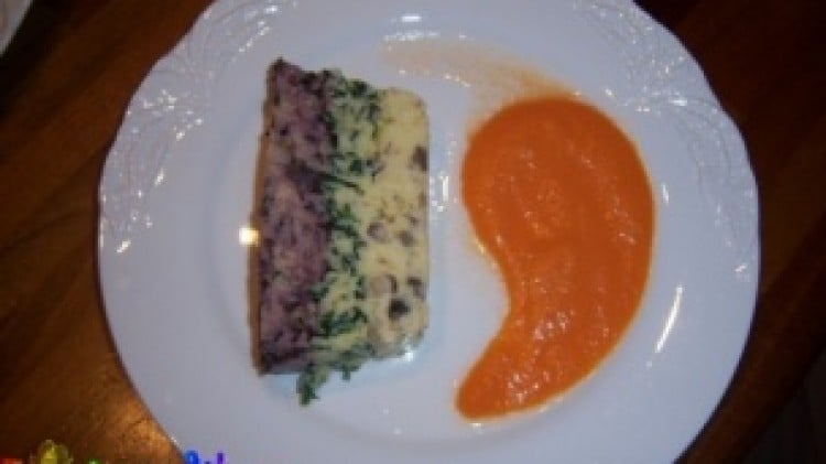Terrina di polenta arcobaleno