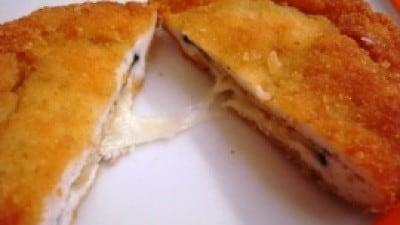 Cordon bleu con melanzane, pomodori e mozzarella
