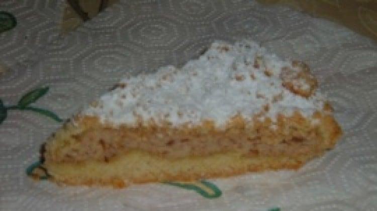 Torta sbriciolina con ricotta ed amaretti