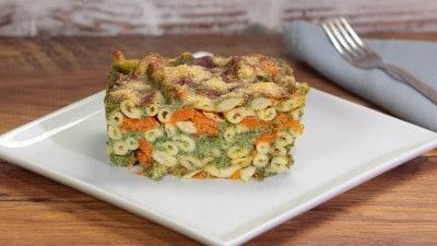 Fusilli con zucca e spinaci al forno
