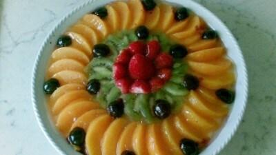 Torta fredda di frutta