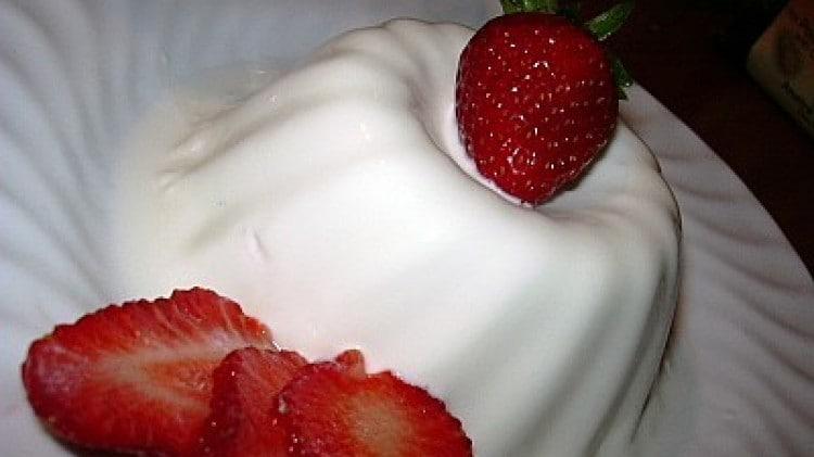 Budino vanigliato al latte