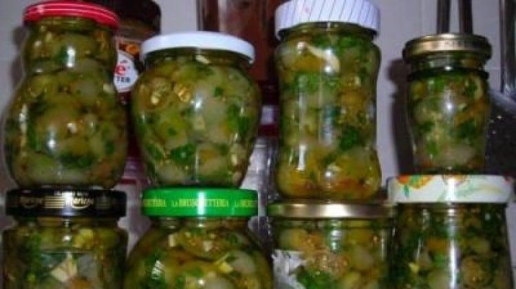 Pomodorini verdi sott'olio