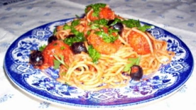 Spaghettini azzurri