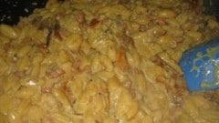 Gnocchetti sardi con salciccia, funghi e curry