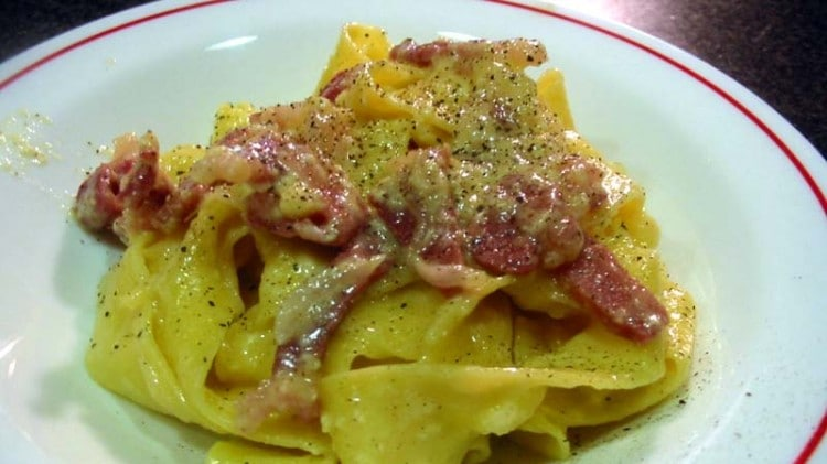 Pappardelle alla Papalina