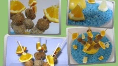 Polpettine di sgombro all'arancia