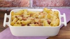 Maccheroni pancetta e scamorza