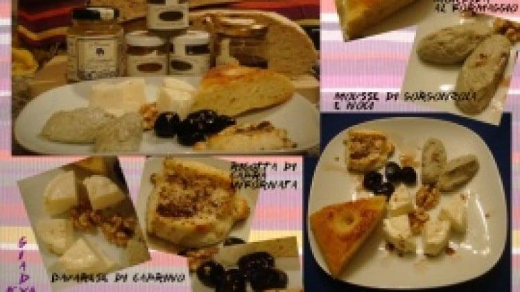 Mousse di gorgonzola e noci e ricotta infornata