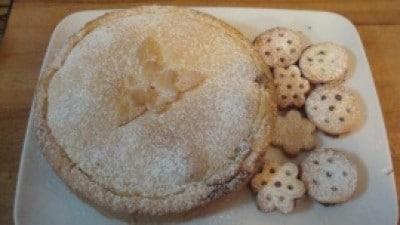 Crostata alla crema con nutella ed amaretti